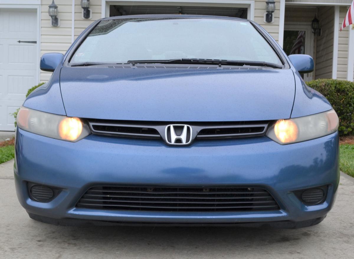 2007-2008 blue Honda Civic