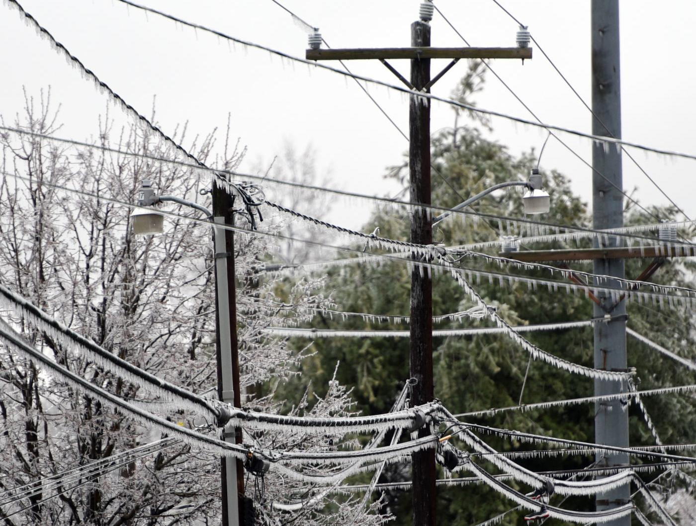 Almost 7,000 Duke Energy customers remain without power following ice storm