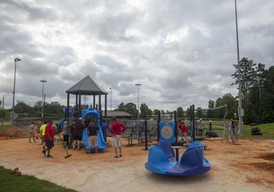 Volunteers assemble playground (copy)