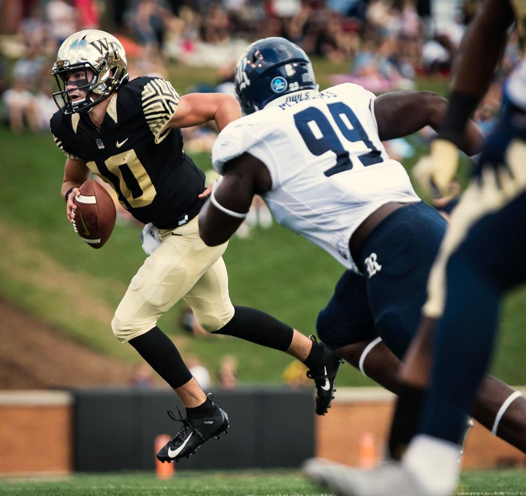 Wake Forest quarterback Jamie Newman rings at Salvation