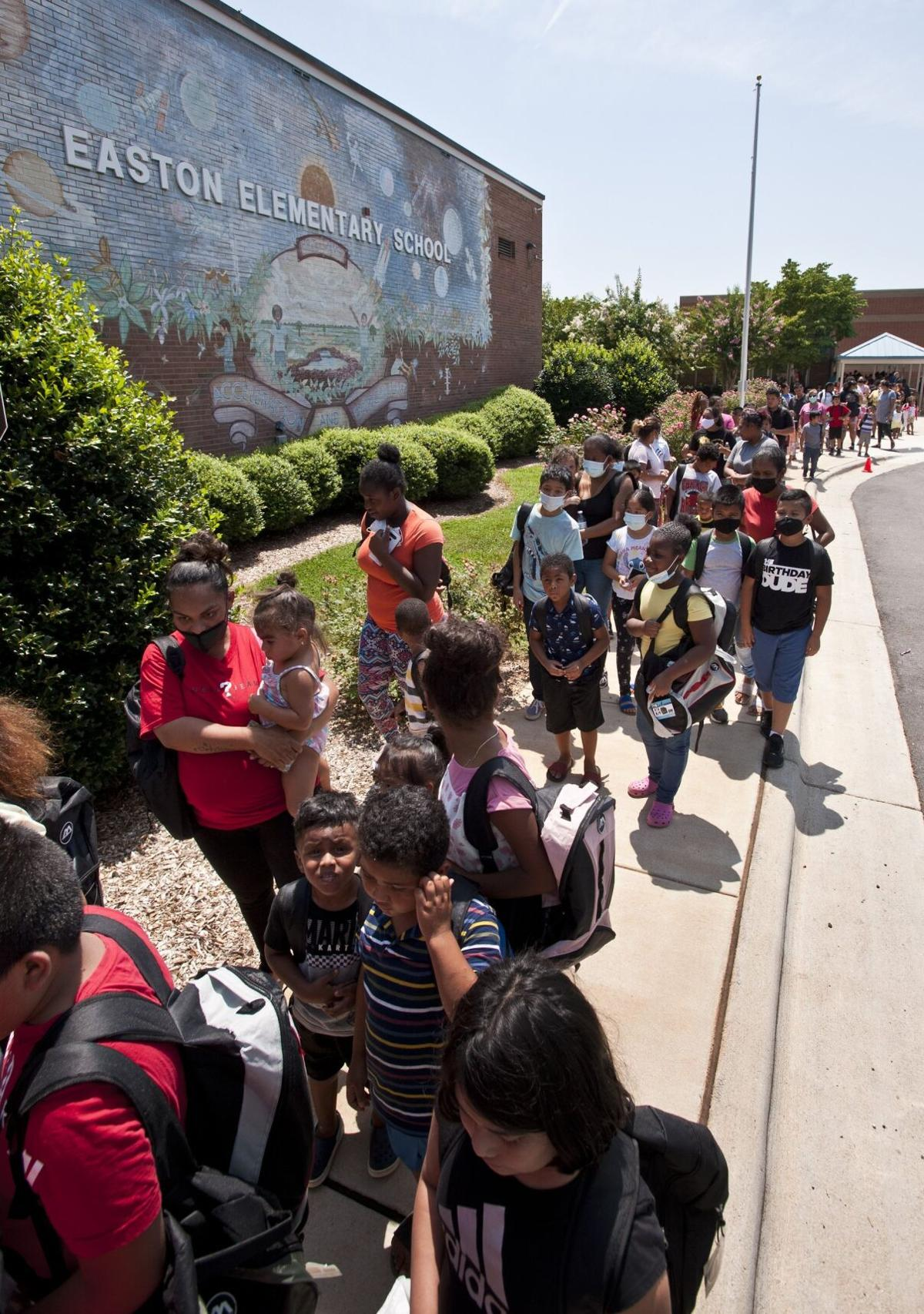 Police backpack giveaway