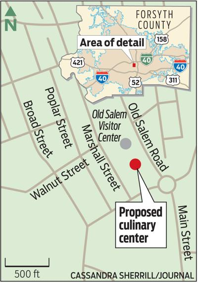 Map of proposed culinary center