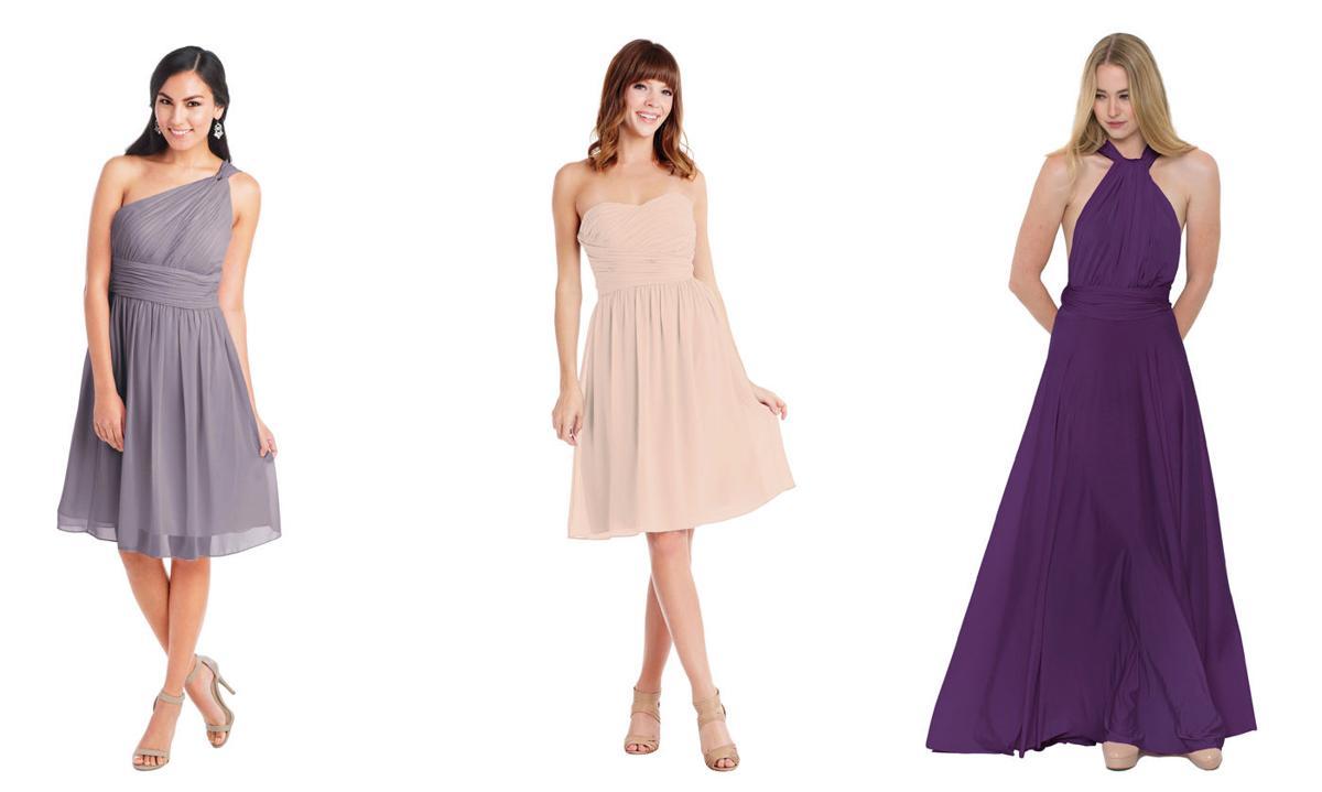 Rent bridesmaids gowns