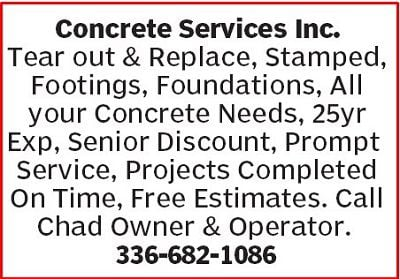 Concrete Services Inc. Ad