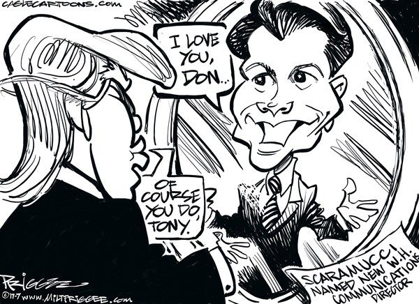 Political Cartoons -- Anthony Scaramucci