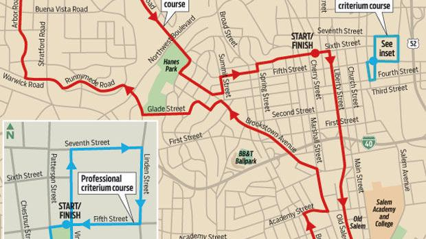 Plan driving routes now for bike races in Winston-Salem, Lewisville