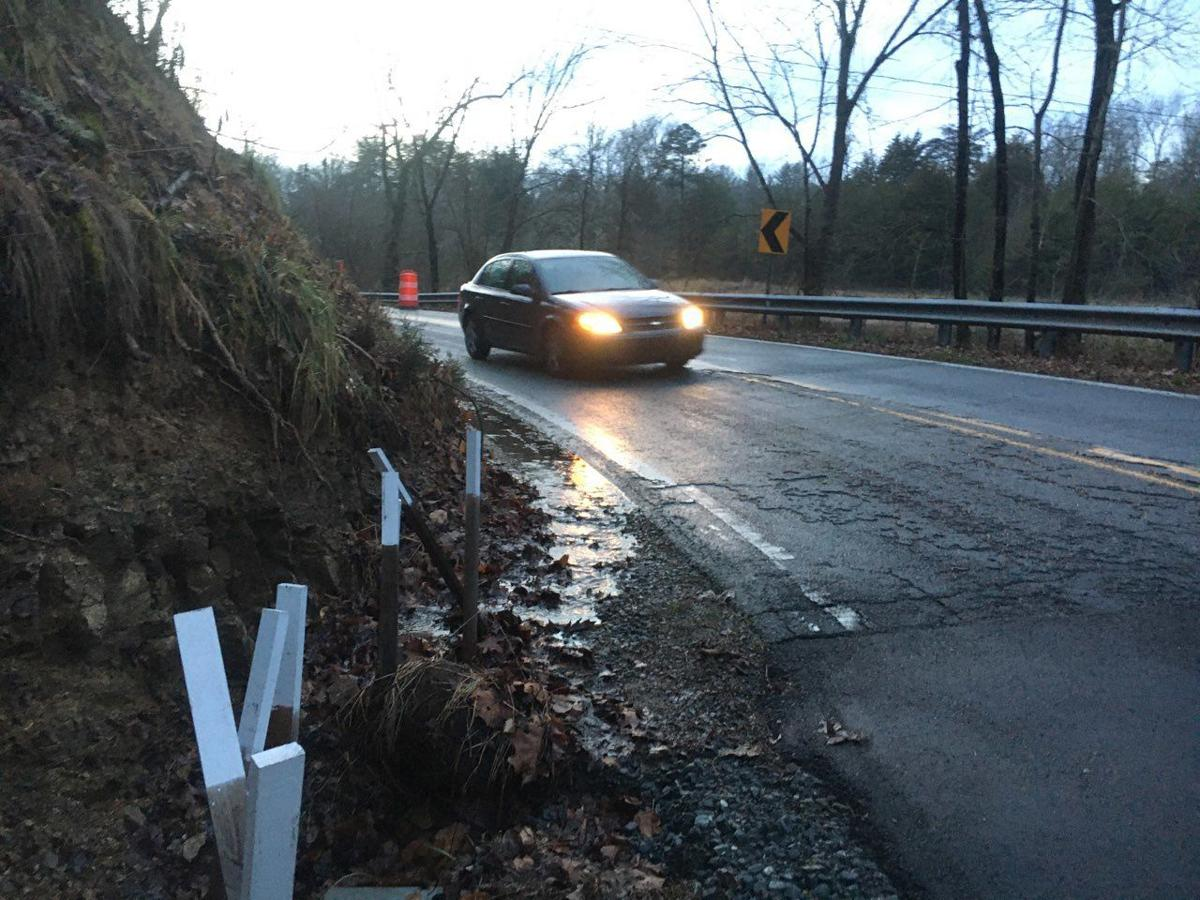 Flooding washes out road