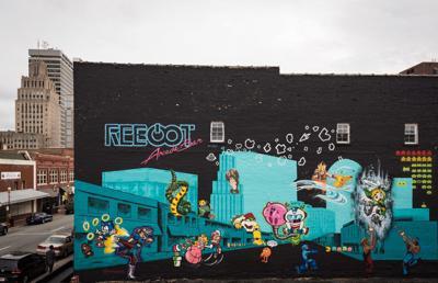 Reboot Arcade Bar Mural