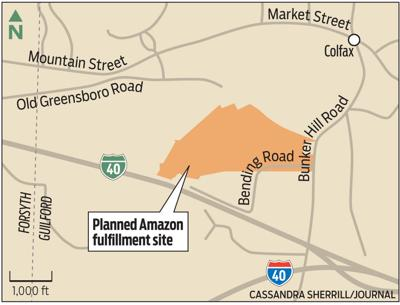Map of Amazon's planned fulfillment site