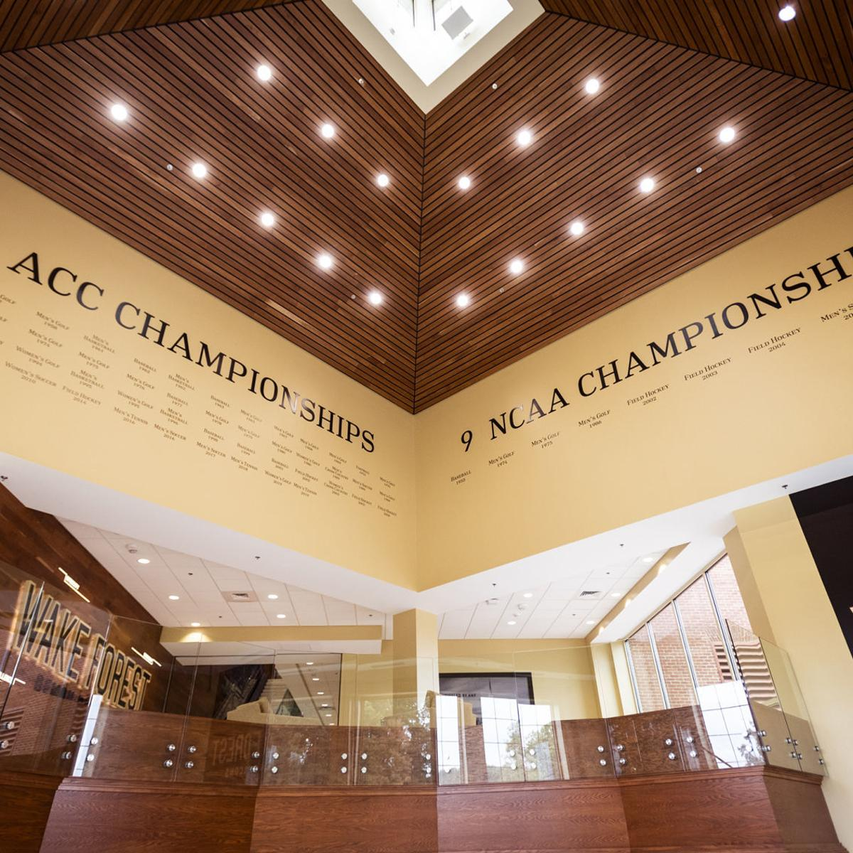 Wake Forest athletics gave a tour of its new on-campus