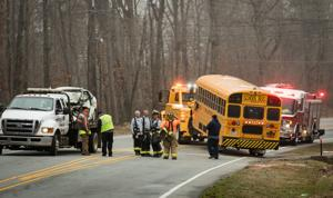 School bus collides head-on with vehicle in Davidson County; car's driver is hurt, bus driver and 3 students escape injury