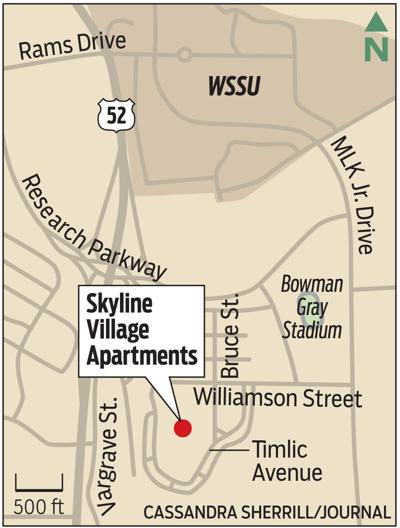 Skyline Village Apartments location