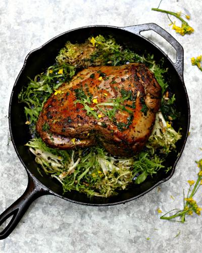Lamb Chermoula With Spring Greens