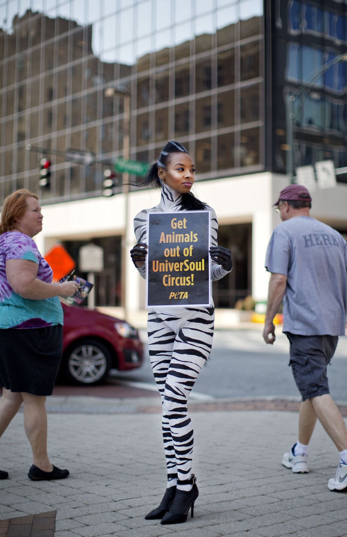 PETA protests the UniverSoul Circus