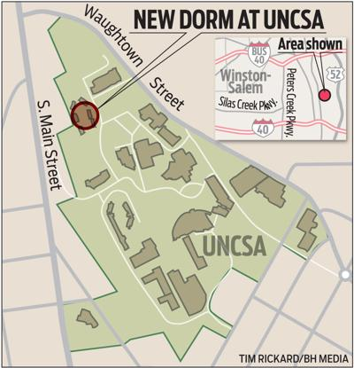 Location of new dorm at UNCSA