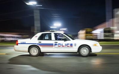 Winston-Salem police car blue lights (copy)
