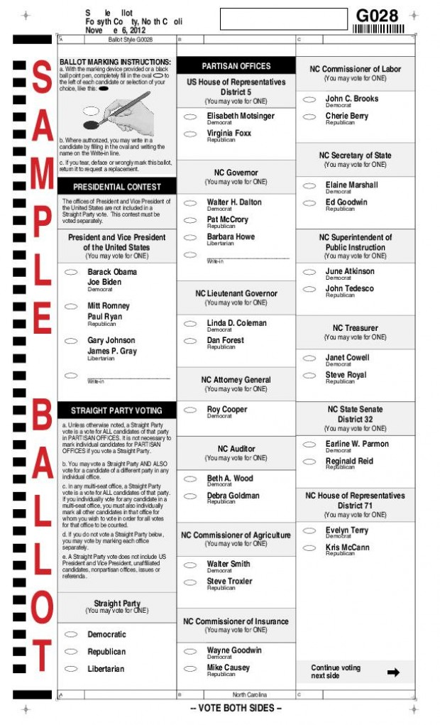 Forsyth County Sample Ballot | State Elections | journalnow.com