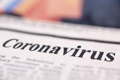 Coronavirus written newspaper COVID-19 (copy)