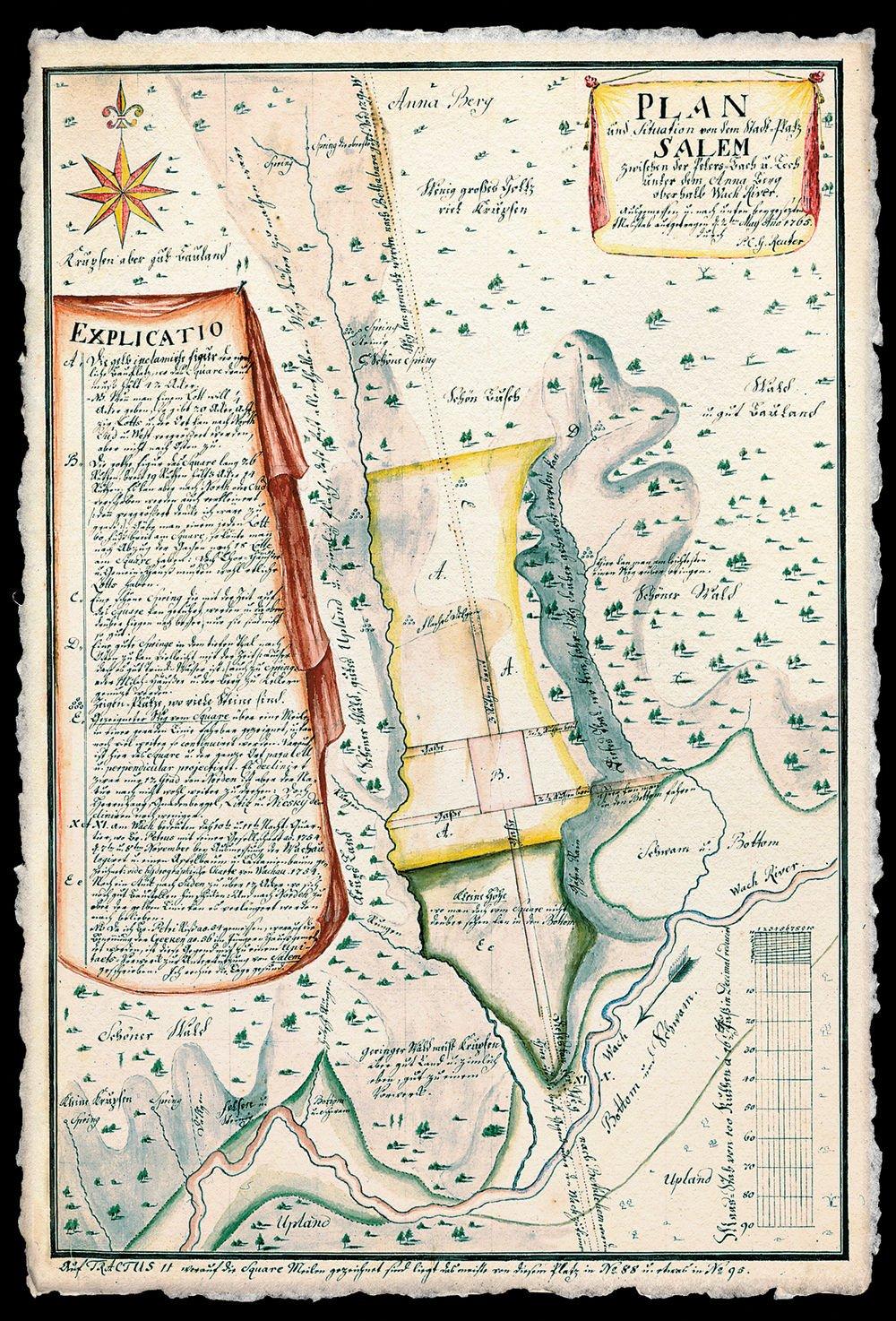 Old Salem Nc Map.Salem250 Salem S Significance Winston Salem Monthly Journalnow Com