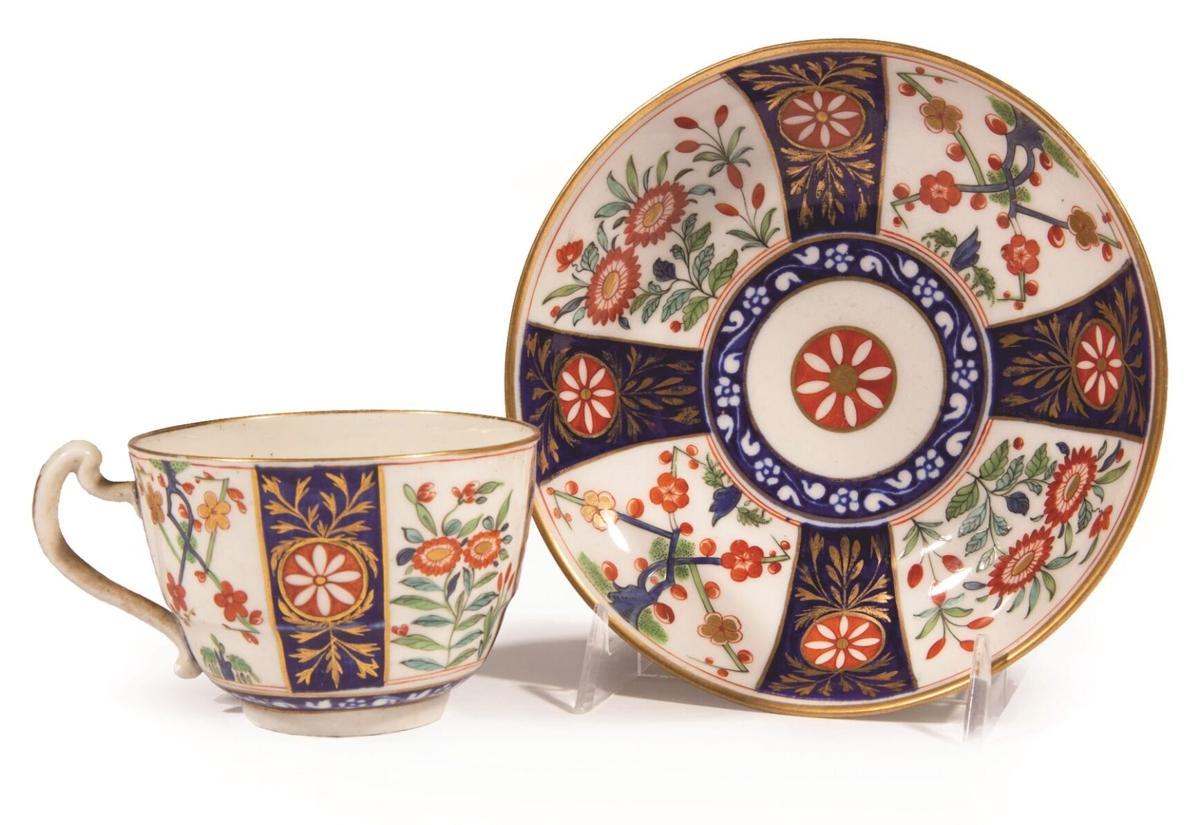 Worcester Dr. Wall cup and saucer
