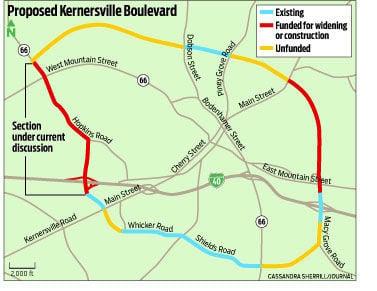 Kernersville Nc Zip Code Map.Planning Starts For Western Segment Of Kernersville Loop Local