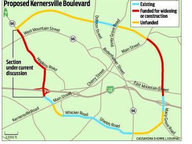 Kernersville Nc Zip Code Map.Big Turnout Different Views On Kernersville Loop Local News