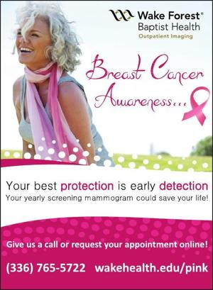 Breast cancer detection center pineville nc will