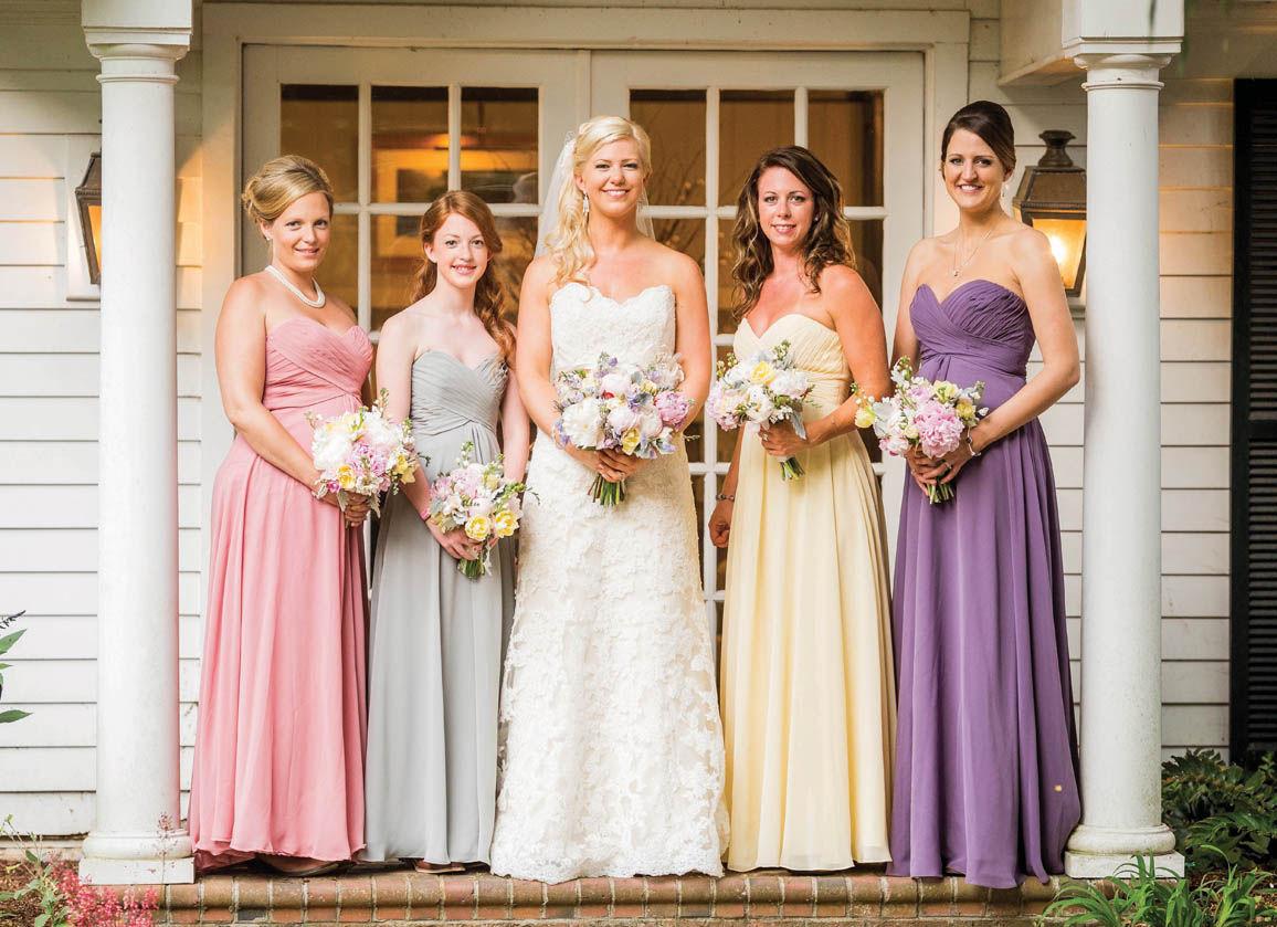 Mix & Match bridesmaids color dresses