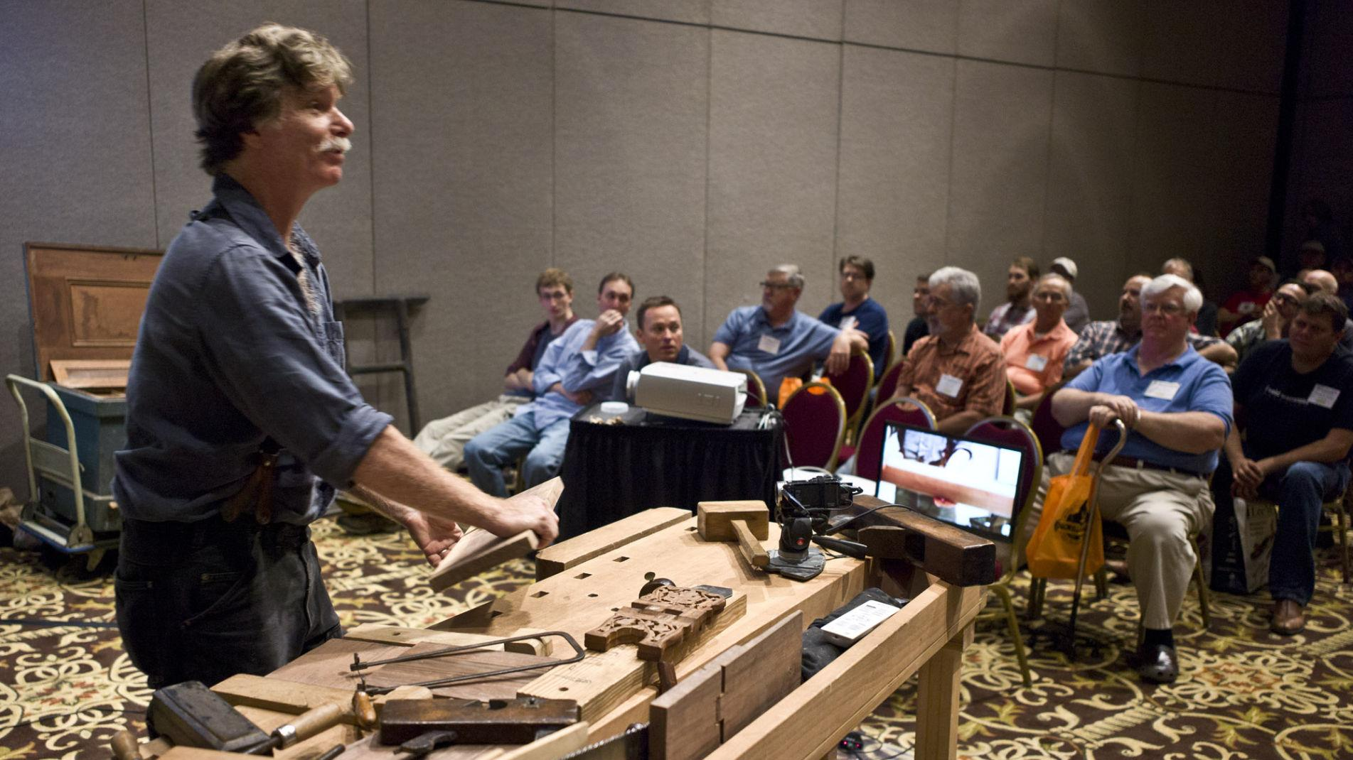 Pbs Star Underhill Attends Woodworking Gathering Local News Journalnow Com