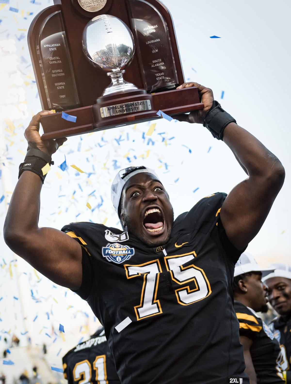 Photos Appalachian State 45 38 Over Louisiana To Win Sun Belt Football Conference Championship Galleries Journalnow Com