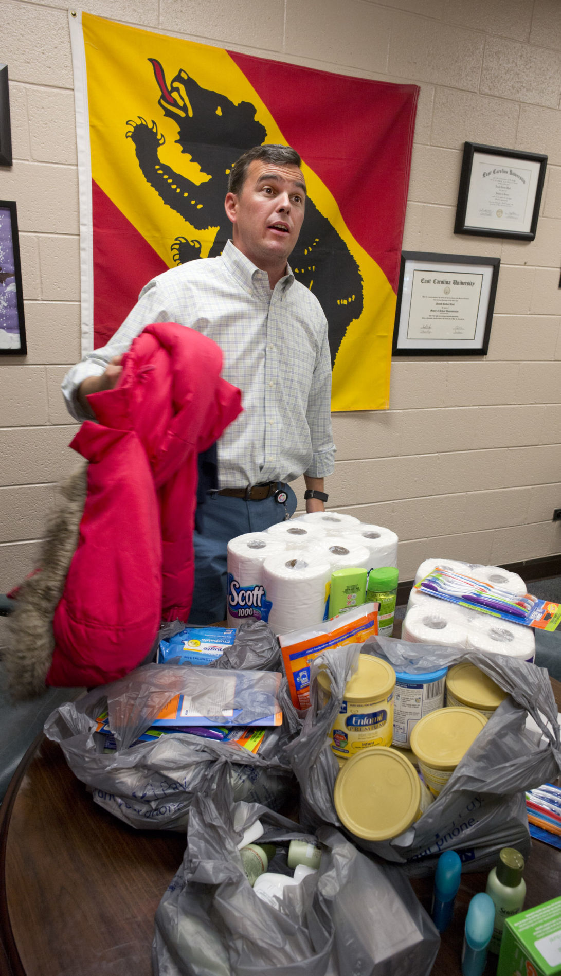 Sedge garden principal collects aid for new bern local Sedge garden elementary school