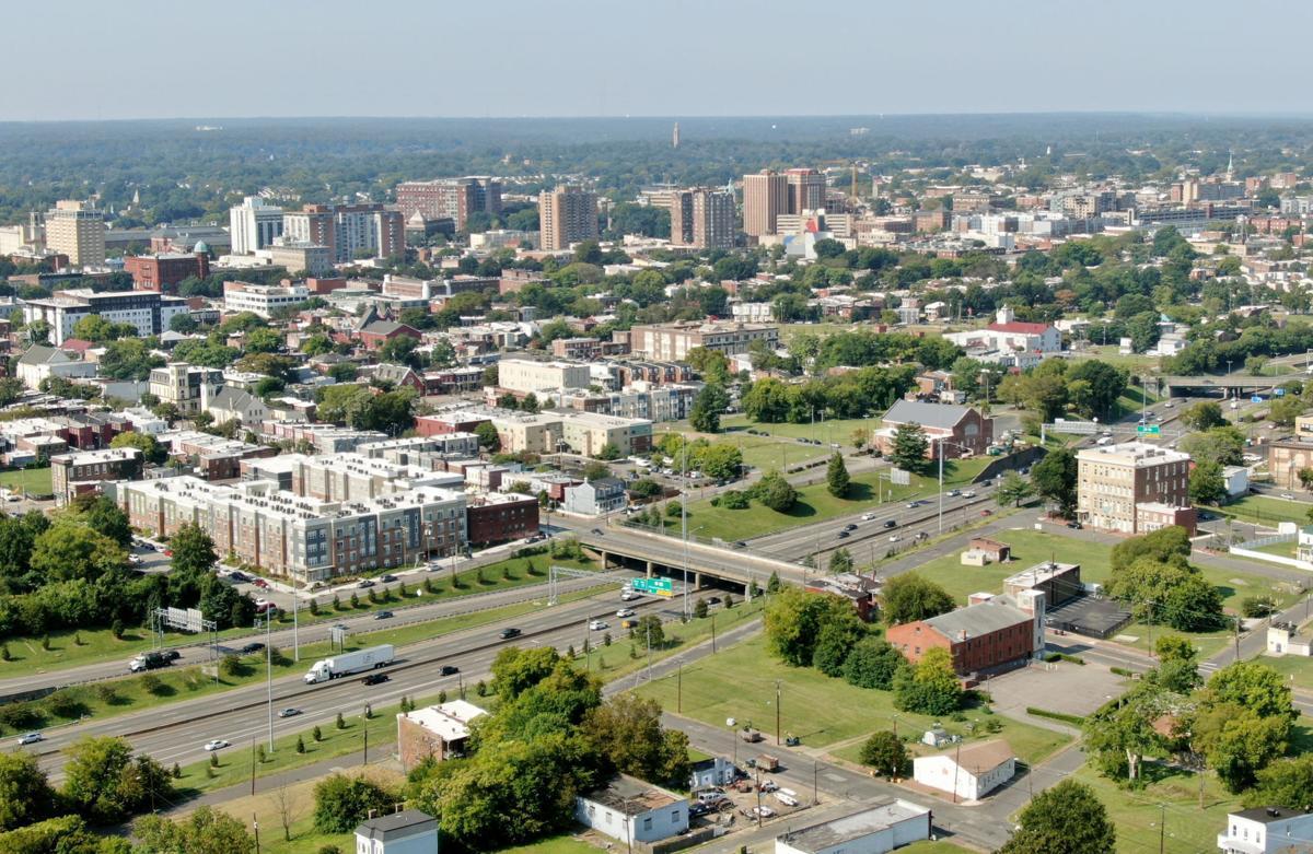 Aerial photo of Jackson Ward
