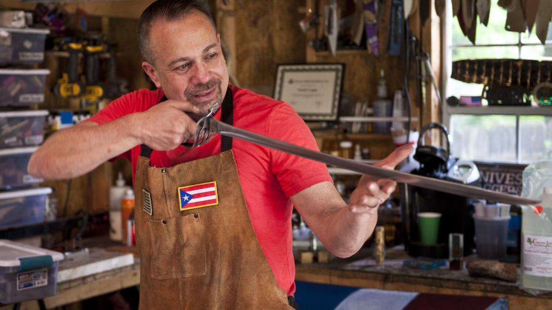 """Winston-Salem knife maker creates works of art. Army veteran's hobby led to stint on """"Forged in Fire."""""""