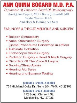 Ear, Nose & Throat Medicine & Surgery - Ann Quinn Bogard