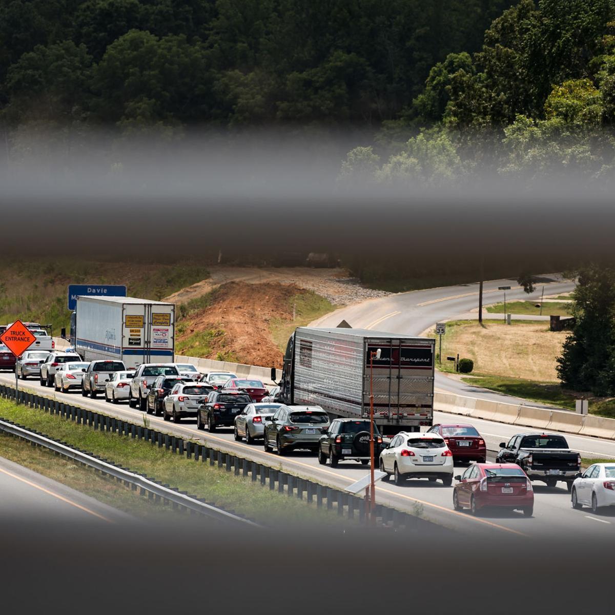 Westbound I-40 reopens after crash near Mocksville