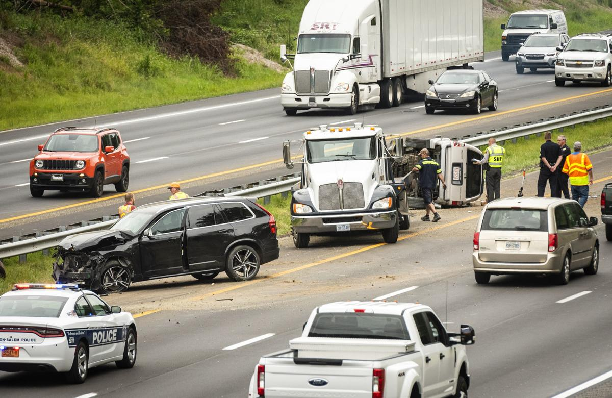 Lane reopens after SUVs crash on I-40 east in Winston-Salem | Local