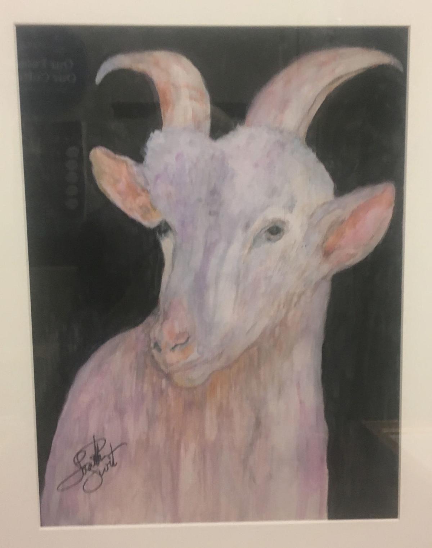 Loretta Swit Vincent Van Goat painting.JPG