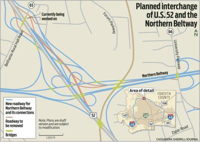 Planned interchange of U.S. 52 and the Northern Beltway