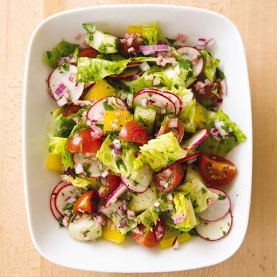 Food Column ATK Summer Vegetable Chopped Salad
