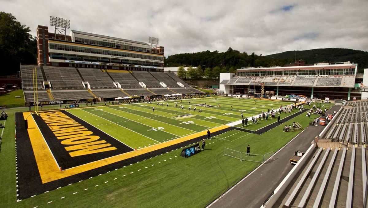 Campbell Appalachian State football empty stadium
