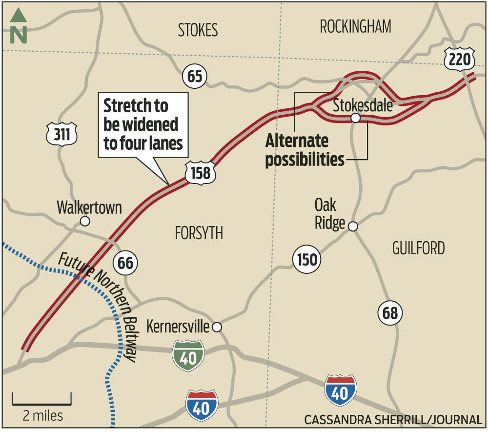 Widening Reidsville Road To Lanes Topic Of DOT Meetings Local - Us 68 map