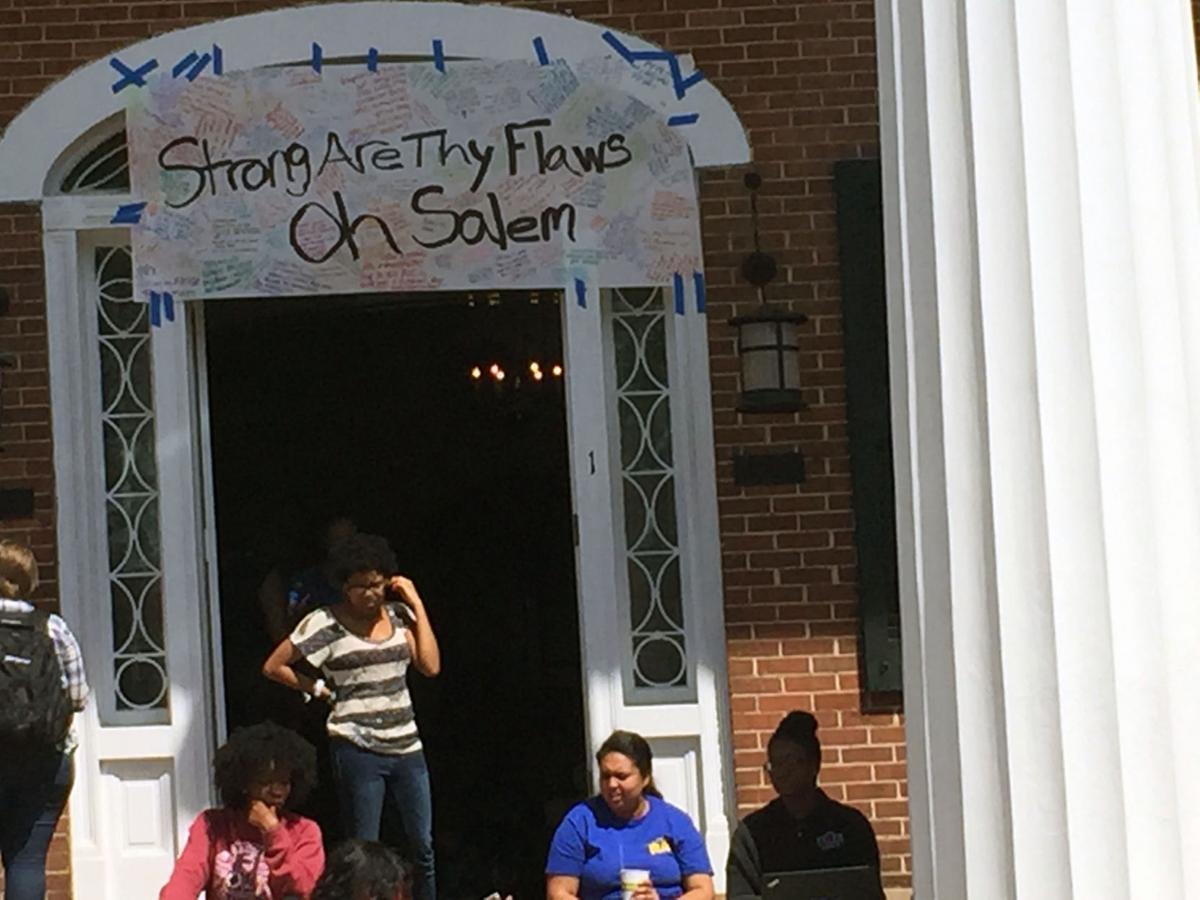 Salem College protest 1