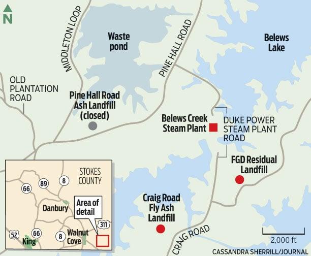 belews creek lake map Environmental Concerns Persist At Belews Creek Plant Local News belews creek lake map