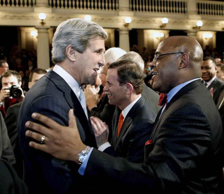 "John Kerry, William ""Mo"" Cowan"