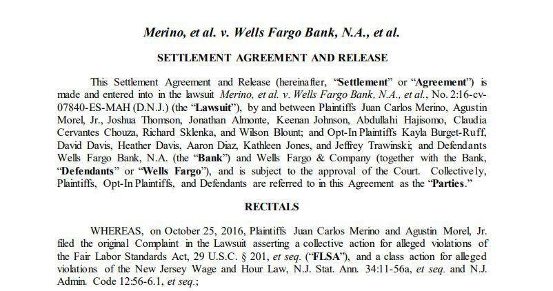 Wells Fargo overtime settlement