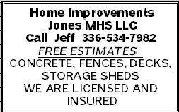 Home Improvements Jones MHS LLC