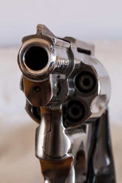 Pointed gun