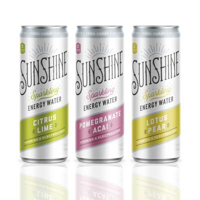 Sunshine Sparkling Energy Water