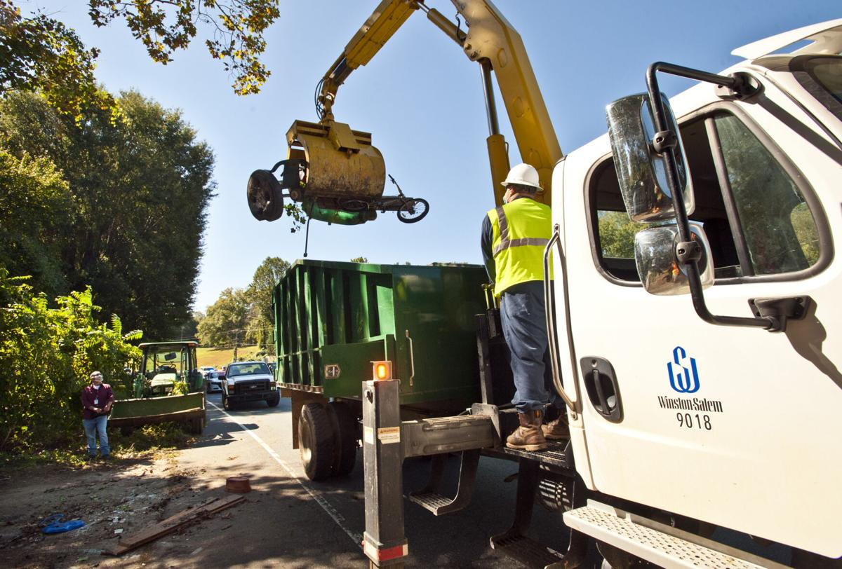 Silas Creek Parkway home cleanup