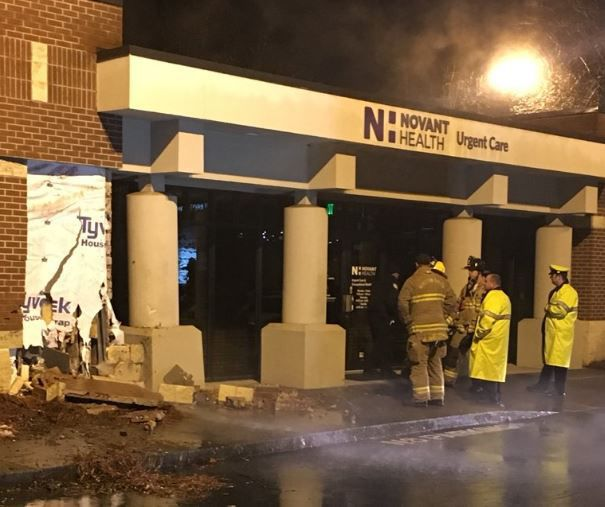 Crash Into Urgent Care Building